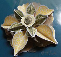 #Stern aus #Ornamenten aus #Designpapier mit #Framelits von #StampinUp!. #KreativNicole