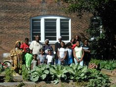 Community gardens, like this one in Cleveland, serve as centers of neighborhood pride, citizen involvement, and inter-generational service learning.