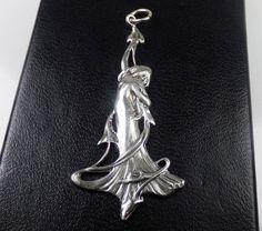 Art Nouveau Maiden Sterling Silver 925 by LittleBittreasures