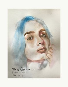 Still sketching. Watercolor.  Valeria.