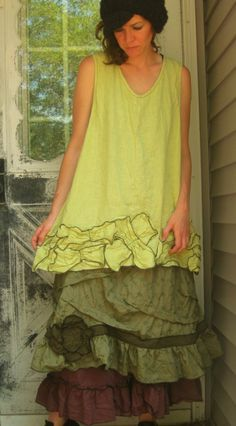 RESERVED for Lisa Green Eyelet Ruffle by sarahclemensclothing