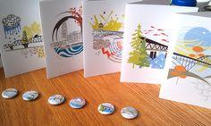 Portland Bridges Notecards by SweetBonny,