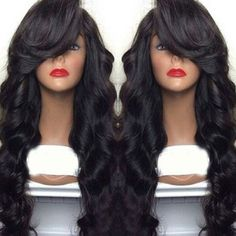 Womens Fashion Long Curly Synthetic Lace Front Wig Full Cap Wigs Beauty Hot #Unbranded #FullWig #Party