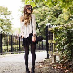 Get this look (skirt, sweater, boots) http://kalei.do/WMokTe32NrQA6D0Q