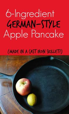 Six-ingredient apple pancakes. YUM! My, my, my who doesn't love a one-skillet meal? Apple pancakes? Yes, please!