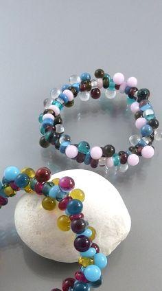 Hand Blown Glass Jewelry   Bracelets   Lampwork Art   Glasperlen Schmuck   Armbänder – jedes ein Unikat   Available On Etsy By Melanie Moertel https://www.etsy.com/shop/melaniemoertel?section_id=5972262&ref=shopsection_leftnav_4 80,00 €