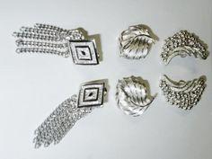 Vintage Clip On Earrings Lot of 3:  Emmons, Trifari, Monet, Signed…