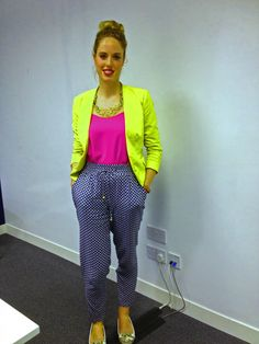 Printed trousers on trend and in fashion