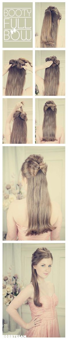 Half-up Half-down Hair Bow ♥ ~ a romantic style for a wedding if you do not wear a veil