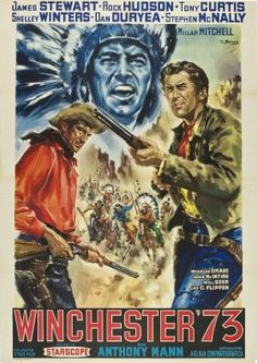WINCHESTER '73 (1950) - James Stewart - Directed by Anthony Mann - Universal - Italian movie poster.