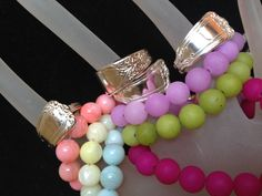 Sterling silver spoon rings and luscious beaded bracelets available soon at Repurpose Boutique in Carthage, MO.