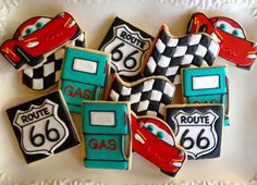 Automobile Themed Sugar Cookie Collection via Etsy