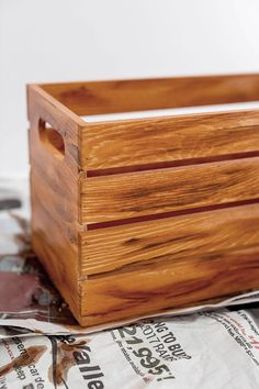 Curved Sides Wooden Box By Artminds Wooden Boxes Unfinished Wood Boxes Wooden