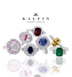Custom made coloured gemstone rings #bykalfinjewellery #diamondjewellery #gemstone #cbdjewellers #jewellery #weddingring #diamondringsmelbourne #engagementringsmelbourne #custommaderings #cityjeweller #jewellers #bestdiamonds #bestjeweller #weddingrings #gentsring  #collinsst #melbourne  www.kalfin.com.au