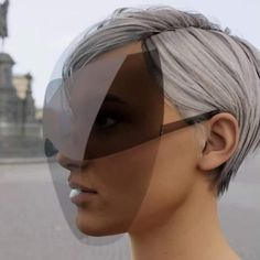 joe doucet creates practical and fashionable face shield with integrated sunglass lenses - Dr Wong - Emporium of Tings. Look Office, Shield Design, Shooting Photo, The New Normal, Normal Life, Foto Art, Fashion Face Mask, Mode Inspiration, Mask Design