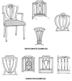 Furniture Styles and approximate dating of some of the those styles.