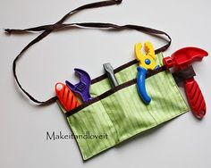 toddler tool belt.  (I really need to work on my sewing skills!)