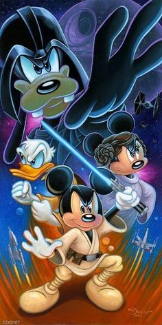 Star Wars and Disney Disney Mickey Mouse, Arte Do Mickey Mouse, Mickey Mouse E Amigos, Mickey Mouse Tattoos, Disney Au, Mickey Mouse And Friends, Disney Marvel, Disney Star Wars, Mickey Mouse Pictures