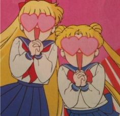 Serena and Mina being boy crazy :P They've always looked like sisters x