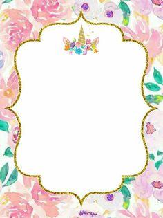 1st Birthday Party Themes, Label Stickers, Baby Invitations, Ferrero Rocher, Baby Shower, School Decorations, Boarders, Unicorn Birthday, Diy Gifts