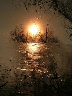 Sunset - reflection by Martin Zeinelov