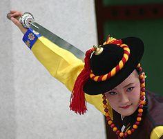 Suwon Korean dance performance sword dance Suwon South Korea by Derek Winchester on Flickr