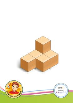 50 cards: Bouwkaart 5 moeilijkheidsgraad 2 voor kleuters, kleuteridee, Preschool card building blocks with toddlers difficulty 2 Cube Pattern, Pattern Blocks, Math Lab, Math Patterns, Math Crafts, Motor Planning, Block Area, Activity Cube, Math Stem