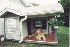 New Pic 15 dog houses that even dog owners cannot refuse! New Pic 15 dog houses that even dog owners cannot refuse! Doghouse # … Strate… New Pic 15 dog Large Dog House, Build A Dog House, Dog House With Ac, Dog House Outside, Dyi Dog House, Pallet Dog House, Puppy House, 15 Dogs, Cool Dog Houses