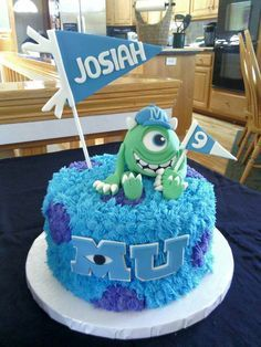 The post Monsters University Cake 2019 appeared first on Birthday ideas. Monster University Cakes, Monster University Birthday, Monster Inc Cakes, Monster Inc Party, Monster Birthday Parties, Monsters University, Disney Cakes, Cakes For Boys, Cute Cakes