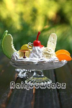 Ice Cream Sundae With Melon Necklace (C) - http://www.shoploveshop.com/ice-cream-sundae-with-melon-necklace-c/ #shopping #iloveshopping #womensfashion