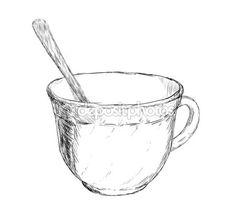 Kahve ya da çay kaşığı ile çizim vektör — Stok Vektör © acidburn #6488184