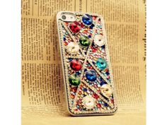 Vintage Style Colorful Crystals iPhone 5 case