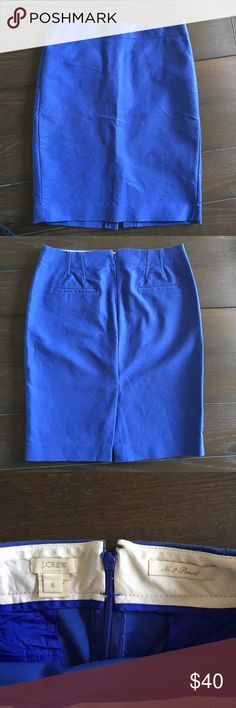 Nwot jcrew no. 2 pencil in double surge cotton Lovely blue! Nwot jcrew no. 2 pencil in double surge cotton. Washed, never worn. Smoke free home with pets. J. Crew Skirts Pencil