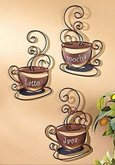 Coffee Cup Wall Decor Metal Hanging Stacked Coffee Cup Kitchen Wall Decor On Zspmed Of Coffee Wall Decor New For Your Home Decoration Ideas