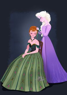 Anna and Elsa Disney Princess Frozen, Elsa Frozen, Disney Nerd, Cute Disney, Disney And Dreamworks, Disney Pixar, Frozen Fan Art, Frozen Wallpaper, Cartoons