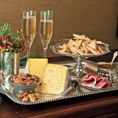 Holiday Appetizer Trays:  Put together the perfect appetizer tray for your next holiday get-together.