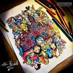 "479 Likes, 9 Comments - Little Sams Art (@littlesamsart) on Instagram: """"imagination has no age, dreams are forever.""  #waltdisney the last Disney drawing guys ✍ ""/…"""