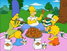 the simpsons picnic