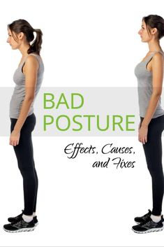 Our bodies are suffering more than ever. The average person's bad posture causes many health problems. Find out about the causes and effects of bad posture. Fix Your Posture, Better Posture, Posture Stretches, Massage Pressure Points, Posture Correction, Neck Pain, Get Healthy, Clinic, Fitness Motivation