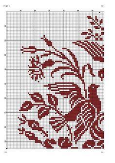 Kira scheme crochet: Scheme crochet no. Crochet Stitches Patterns, Crochet Chart, Loom Patterns, Filet Crochet, Crochet Motif, Cross Stitch Patterns, Blackwork Embroidery, Beaded Embroidery, Embroidery Stitches