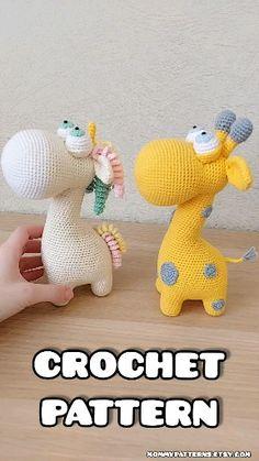 Crochet PATTERN toy 2 in 1 Giraffe & Unicorn Muster Strickohrwärmer Muster frei Mini Amigurumi, Crochet Amigurumi, Amigurumi Toys, Crochet Dolls, Giraffe Crochet, Crochet Bunny, Crochet Animals, Giraffe Pattern, Crochet Toys Patterns