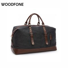 Travel Bags  Original Z.L.D Canvas Leather Men Travel Bags Carry on Luggage Bags Men Duffel Bags Travel Tote Large Weekend Bag Overnight **