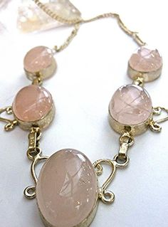925 Sterling Silver Rose Quartz Necklace Semi by MoodTherapy, $44.50