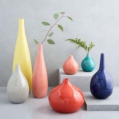 West Elm Bright Ceramicist Vase, Small Bud, Coral - Vases - Home Decor - Pottery Vase Centerpieces, Vases Decor, Bud Vases, Flower Vases, Mini Terrarium, Succulent Terrarium, West Elm, Flora Und Fauna, Vase Fillers