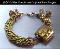 Зарезервировано для Lisa C Golden Rose Olive Green Gold от originalrose