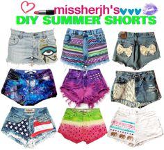 """Missherjh's DIY Summer Shorts"" by missherjh on Polyvore"