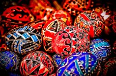 """The Egg Painter: Very Good Eggs of Romania  Ornamental eggs are a signature craft of Eastern Europe, and nowhere do they have the crisp, delicate geometry of the eggs produced by humble craftswomen in the small Romanian town of Ciocăneşti.  Includes photographs and the documentary short, """"The Egg Painter."""""""