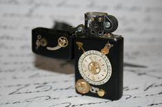 Black Steampunk Zippo Lighter Made from by Take2GiveOneLove, $39.95