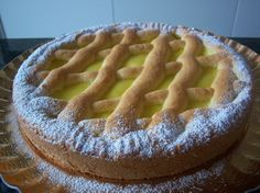 crostata della nonna Eat Dessert First, Apple Pie, Deserts, Yummy Food, Recipes, Sarah Kay, Catania, Biscotti, Origami