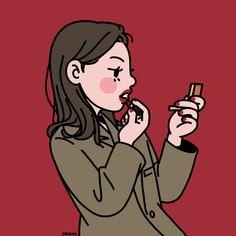 This is Sinana Illustrator based on fashion illustration. Girl Cartoon, Cartoon Art, Cute Cartoon, Line Illustration, Illustrations, Cartoon Drawings, Art Drawings, Character Art, Character Design